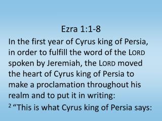 Ezra 1:1-8