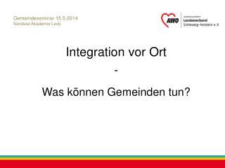 Gemeindeseminar 15.5.2014 Nordsee Akademie Leck