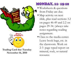 Monday, 11- 15-10