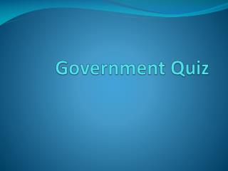 Government Quiz