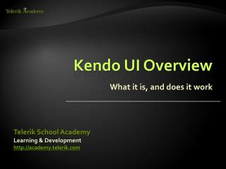 Kendo UI Overview