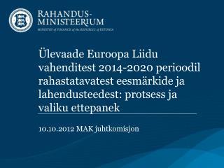 10.10.2012 MAK juhtkomisjon