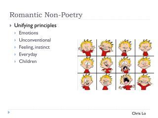 Romantic Non-Poetry