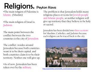 Religions.  Peyton Kava