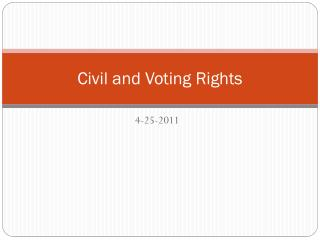 Civil and Voting Rights