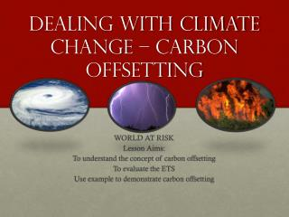 Dealing with climate change � carbon offsetting