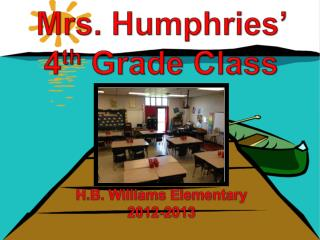 H.B. Williams Elementary 2012-2013