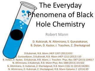 The Everyday Phenomena of Black  Hole Chemistry