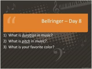 Bellringer  – Day 8