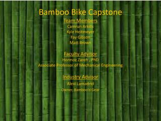 Industry Advisor Alexi  Lamadrid Owner,  Bamboo'd  Gear