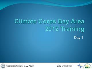 Climate Corps Bay Area 2012 Training