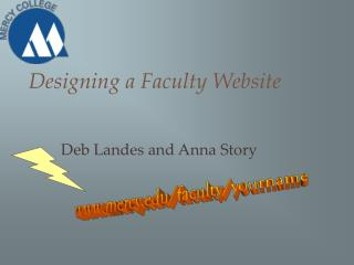 Designing a Faculty Website