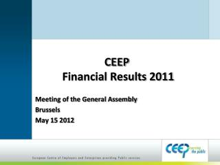 CEEP Financial Results 2011