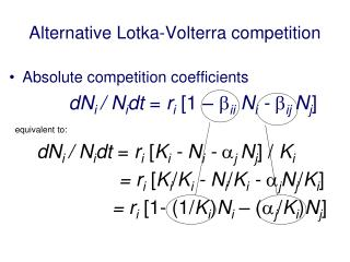 Alternative  Lotka-Volterra  competition