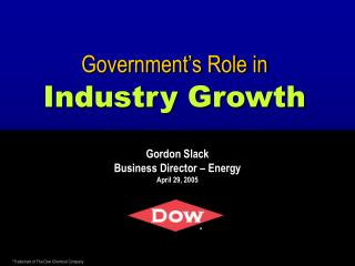Government s Role in Industry Growth