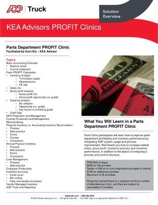 KEA  Advisors PROFIT  Clinics