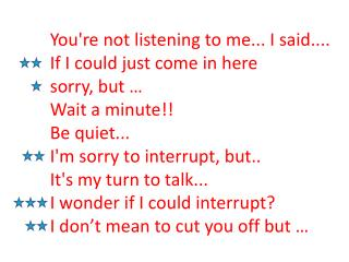 Politeness in  Discussions