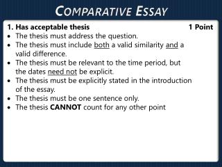 Comparative  Essay