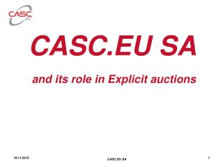 CASC.EU SA  and its role in Explicit auctions