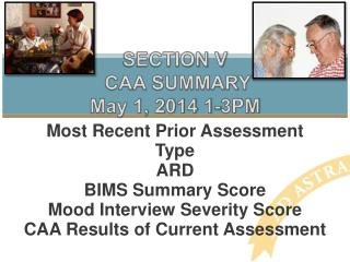 SECTION V  CAA SUMMARY May 1, 2014 1-3PM