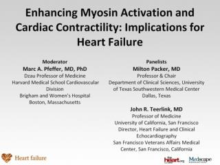 Enhancing Myosin Activation and Cardiac Contractility: Implications for Heart Failure