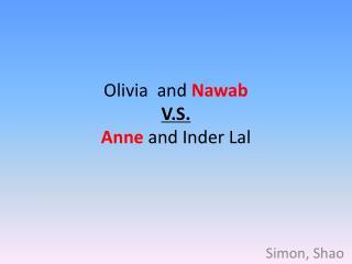Olivia  and  Nawab V.S.  Anne  and  Inder Lal