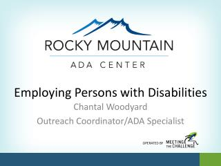 Employing Persons with Disabilities