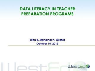 data literacy in teacher preparation programs