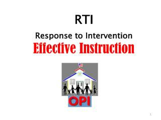 RTI Response to Intervention Effective Instruction