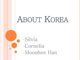 About Korea