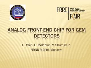 Analog front-end chip for  GEM  detectors