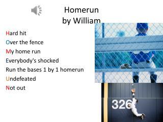 Homerun  by  William