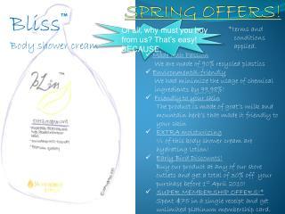 Bliss™ Body shower cream