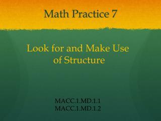 Math Practice 7