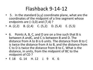 Flashback 9-14-12