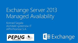 Exchange Server 2013 Managed Availability