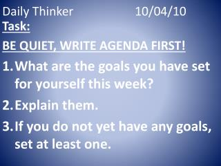 Daily Thinker10/04/10