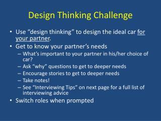 Design Thinking Challenge