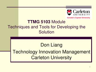 TTMG 5103  Module  Techniques and Tools for Developing the Solution