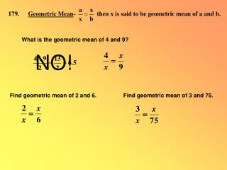 179. Geometric Mean -             then x is said to be geometric mean of a and b.