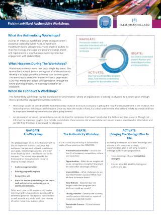 FleishmanHillard Authenticity Workshops