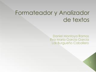 Formateador y Analizador de textos