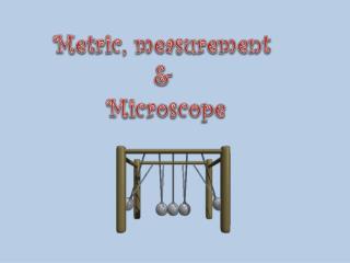 Metric, measurement  &  Microscope