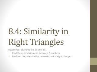 8.4: Similarity in Right Triangles