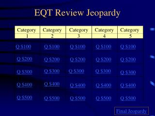 EQT Review Jeopardy