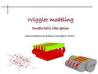 Wiggler modeling Double-helix like option
