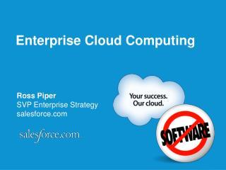 Ross Piper SVP Enterprise Strategy salesforce