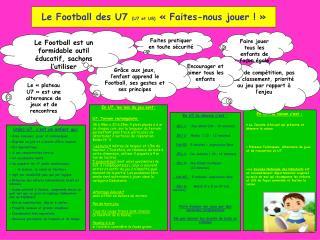 Le Football des U7 U7 et U8   Faites-nous jouer