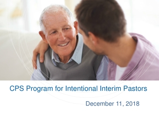 Intentional Interim Ministry