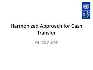 Harmonized Approach for Cash Transfer